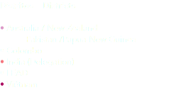 Distritos – Districts • Australia / New Zealand Pakistan /Papua-New Guinea